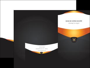 imprimerie pochette a rabat web design noir simple professionnel MIF63579