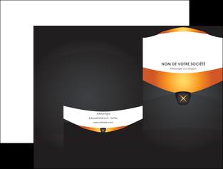 creer modele en ligne pochette a rabat web design noir simple professionnel MIF63581