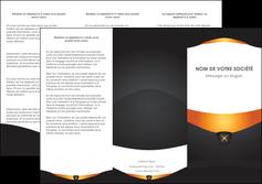 Impression imprimer depliant 3 volets Web Design devis d'imprimeur publicitaire professionnel Dépliant 6 pages Pli roulé DL - Portrait (10x21cm lorsque fermé)