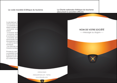 faire depliant 2 volets  4 pages  web design noir simple professionnel MLGI63607