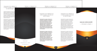 imprimer depliant 4 volets  8 pages  web design noir simple professionnel MLIG63615