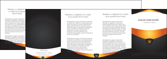 modele en ligne depliant 4 volets  8 pages  web design noir simple professionnel MLGI63617