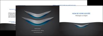 imprimerie depliant 2 volets  4 pages  gris gris fonce mat MIF63635