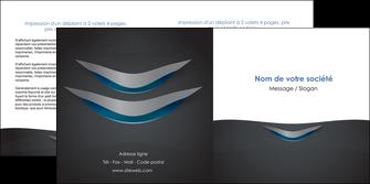 maquette en ligne a personnaliser depliant 2 volets  4 pages  gris gris fonce mat MIF63649