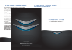 modele depliant 2 volets  4 pages  gris gris fonce mat MIF63659