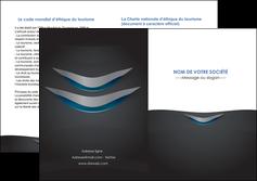 modele depliant 2 volets  4 pages  gris gris fonce mat MLIG63659