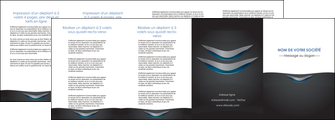 personnaliser modele de depliant 4 volets  8 pages  gris gris fonce mat MIF63663
