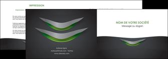 faire modele a imprimer depliant 2 volets  4 pages  gris fond metallise MIF63741