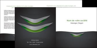 personnaliser modele de depliant 2 volets  4 pages  gris fond metallise MIF63753