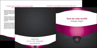 personnaliser modele de depliant 2 volets  4 pages  gris gris fonce mat MLGI63857