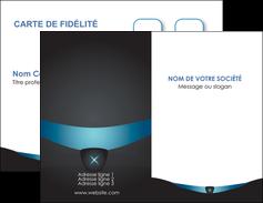 Impression Créer des carte de visite  Carte commerciale de fidélité papier à prix discount et format Carte de visite Double - Portrait