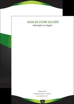imprimer flyers gris vert fond MIF64005