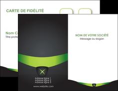 modele en ligne carte de visite gris vert fond MIF64011