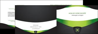 imprimerie depliant 2 volets  4 pages  gris vert fond MIF64017