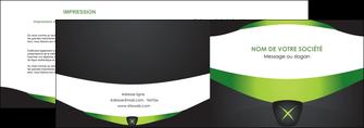 maquette en ligne a personnaliser depliant 2 volets  4 pages  gris vert fond MIF64019