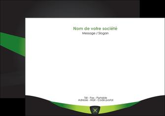 creer modele en ligne flyers gris vert fond MIF64025