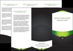 impression depliant 3 volets  6 pages  gris vert fond MLGI64027