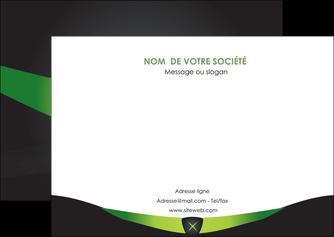creation graphique en ligne flyers gris vert fond MIF64029