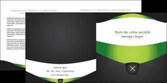 faire modele a imprimer depliant 2 volets  4 pages  gris vert fond MIF64031