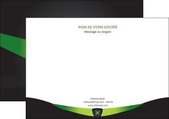 personnaliser modele de flyers gris vert fond MLIG64035