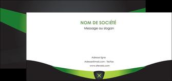 imprimerie flyers gris vert fond MIF64037