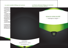 imprimer depliant 2 volets  4 pages  gris vert fond MIF64041