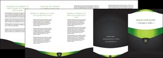 personnaliser modele de depliant 4 volets  8 pages  gris vert fond MIF64045
