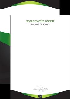imprimerie flyers gris vert fond MIF64047