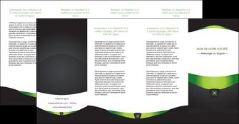 imprimer depliant 4 volets  8 pages  gris vert fond MLGI64049