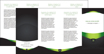 imprimer depliant 4 volets  8 pages  gris vert fond MIF64049