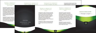 creer modele en ligne depliant 4 volets  8 pages  gris vert fond MIF64051