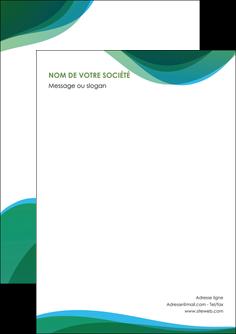 faire modele a imprimer flyers vert bleu couleurs froides MLIP64165