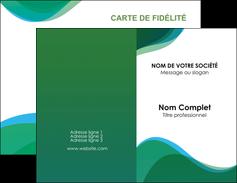 creer modele en ligne carte de visite vert bleu couleurs froides MLIP64173