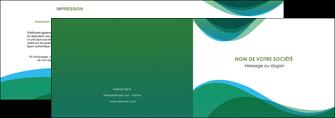 imprimerie depliant 2 volets  4 pages  vert bleu couleurs froides MLIP64179