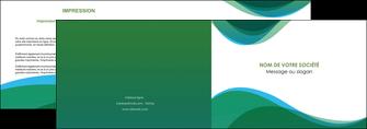 modele depliant 2 volets  4 pages  vert bleu couleurs froides MLGI64181