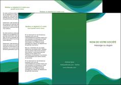 imprimerie depliant 3 volets  6 pages  vert bleu couleurs froides MLIP64189