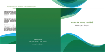 modele depliant 2 volets  4 pages  vert bleu couleurs froides MLIP64193