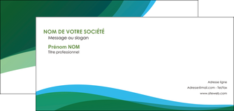 personnaliser modele de carte de correspondance vert bleu couleurs froides MLGI64201