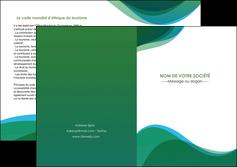 creation graphique en ligne depliant 2 volets  4 pages  vert bleu couleurs froides MLIP64203
