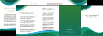 modele depliant 4 volets  8 pages  vert bleu couleurs froides MLIP64207