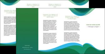 modele depliant 4 volets  8 pages  vert bleu couleurs froides MLIP64211