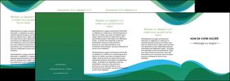 maquette en ligne a personnaliser depliant 4 volets  8 pages  vert bleu couleurs froides MLIP64213