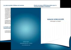 modele depliant 2 volets  4 pages  bleu fond  bleu couleurs froides MIF64243