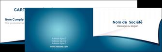 cree carte de visite bleu fond  bleu couleurs froides MIF64245