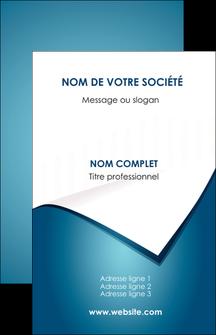personnaliser modele de carte de visite bleu fond  bleu couleurs froides MIF64247