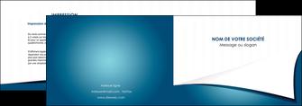 creer modele en ligne depliant 2 volets  4 pages  bleu fond  bleu couleurs froides MIF64253