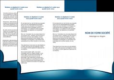 modele depliant 3 volets  6 pages  bleu fond  bleu couleurs froides MIF64263