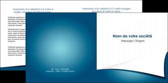cree depliant 2 volets  4 pages  bleu fond  bleu couleurs froides MIF64267