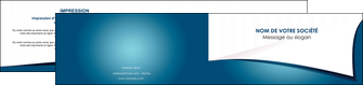 imprimer depliant 2 volets  4 pages  bleu fond  bleu couleurs froides MIF64273