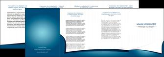 personnaliser modele de depliant 4 volets  8 pages  bleu fond  bleu couleurs froides MIF64279